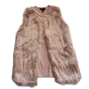Atmosphere Blush Pink Faux Fur Vest Open Front M